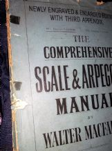 ANTIQUE 1909 SHEET MUSIC BOOK COMPREHENSIVE SCALE & ARPEGGIO MANUAL MACFARREN